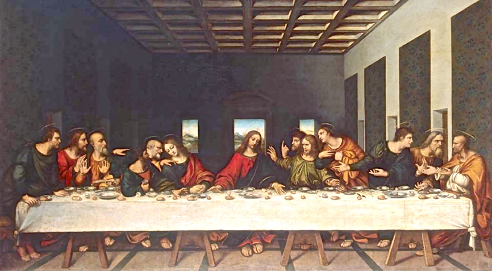 GJ-2036;0; Leonardo da Vinci, Copy of the 16th Century. The Last Supper.